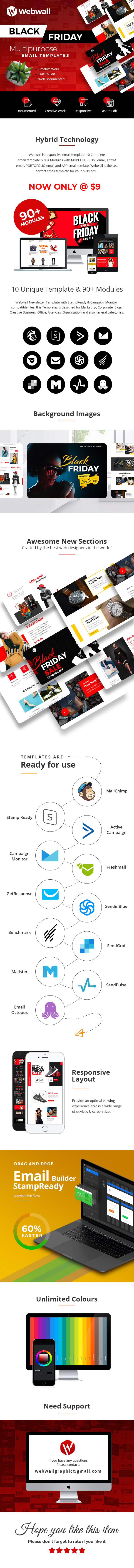 Webwall - Black Friday Template + StampReady & CampaignMonitor compatible files - 1