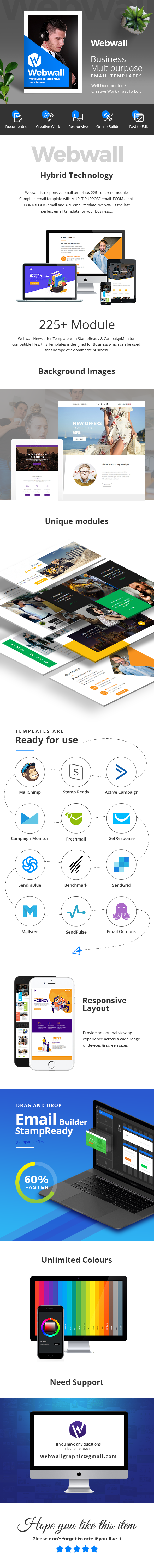 Webwall - Business Responsive Email Template + StampReady & CampaignMonitor compatible files - 1