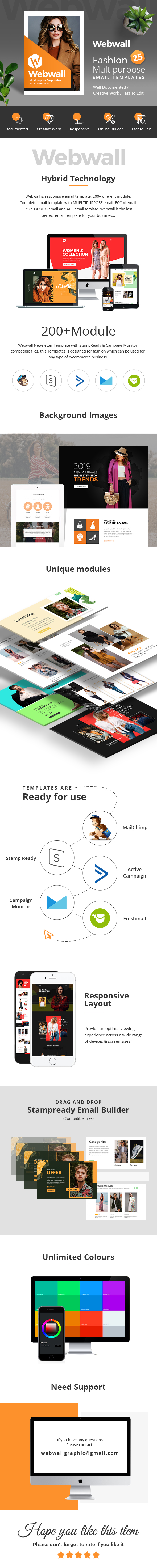 Webwall - Fashion Responsive Email Template + StampReady & CampaignMonitor compatible files - 1